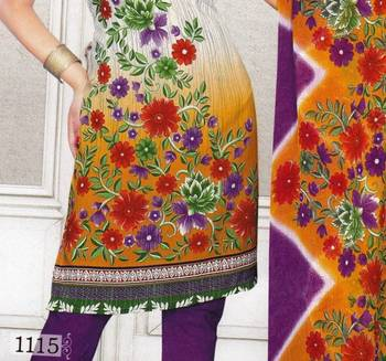 Dress Material Crepe Designer Prints Unstitched Salwar Kameez Suit D.No SJ1115