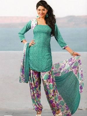 Dress material crepe unstitched patiala salwar kameez suit d.no 6152