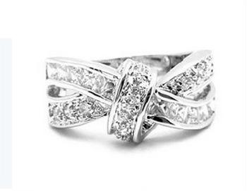 14kt fine fashion crystal zircon white gold filled ring
