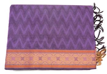 Traditional cotton saree - south indian embossed cotton sari - riyaa