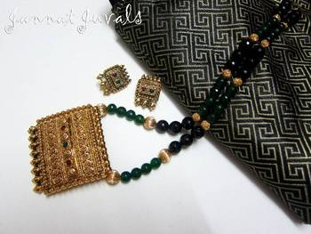 Black and Green Jewelry set