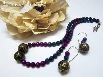 Grey and Purple Neckset