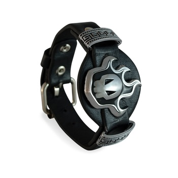 Black Biker Style Bracelet for Men