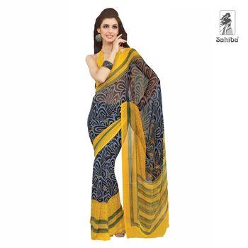Party Wear Sari Kaju4702