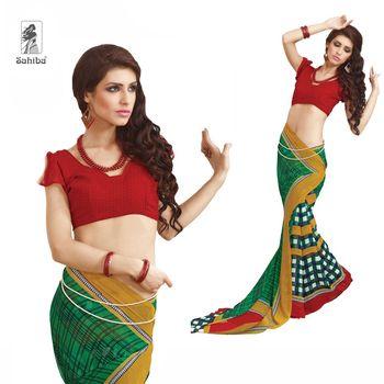 Party Wear Sari Kaju4704