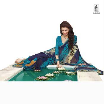 Party Wear Sari Kaju4710