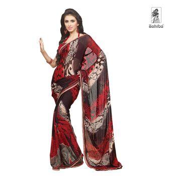 Party Wear Sari Kaju4718