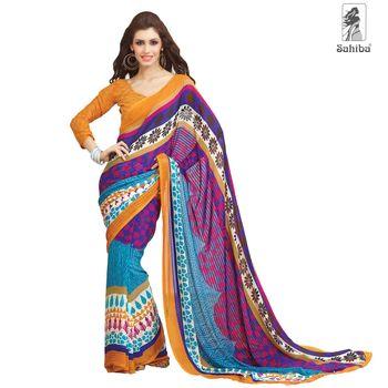 Party Wear Sari Kaju4722