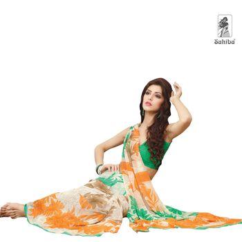 Party Wear Sari Kaju4724