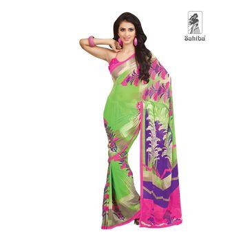 Party Wear Sari Kaju4727