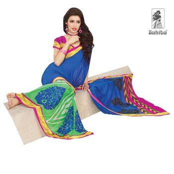 Party Wear Sari Kaju4729