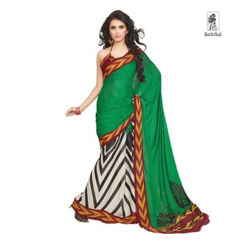 Party Wear Sari Kaju4731