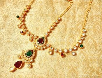 Royal wedding jewellery mathapatti maang tikka