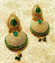 Buy Fabulous Bollywood Style Multicolour Pearl Earrings danglers-drop online