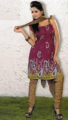 Crepe dress material elegant designer unstitched salwar suit d.no 4370