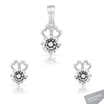 Mahi  Rhodium Plated Efflorescent Beauty Manya Set