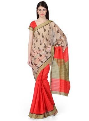 Styloce Multi Color Bhagalpuri Silk Saree