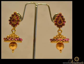 Temple Jewellery - Jhumka 16