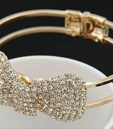 Buy Rhinestones Bowknot Cuff Bangle Bracelet online