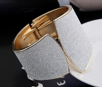 Punk Golden Plated Cuff