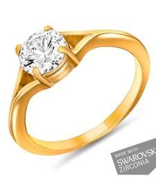 Buy Mahi Gold Plated Ecstatic Finger Ring Ring online