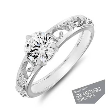 Mahi hodium Plated Remarkable Solitaire Ring
