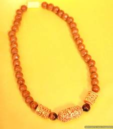 Brown Onyx Traditional Pattern Necklace