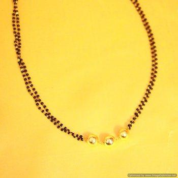 Black Gold Beads Mangalsutra