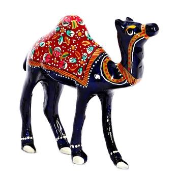 Handpainted Royal Camel with Meenakari Work