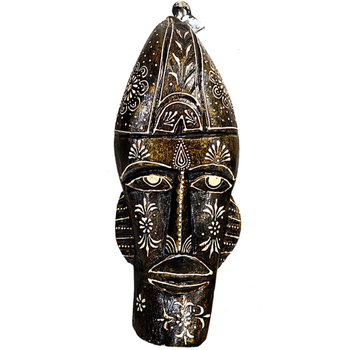 Handpainted Wooden Tribal Mask for Walls