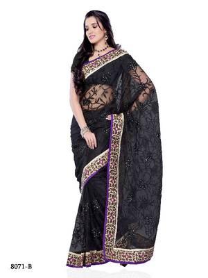 Bipasa Basu Style Bollywood Designer Saree in Super Net Fabric