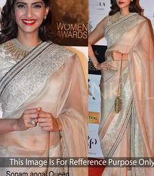Buy Silver embroidered Georgette saree with blouse sonam-kapoor-saree online