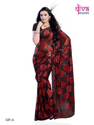 Stunning Party Wear Saree made from Brasso Fabric