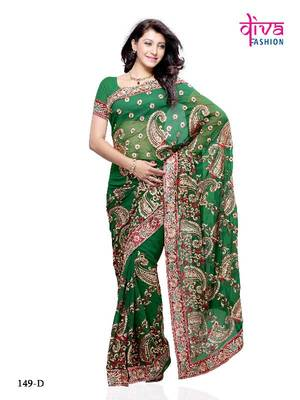 Dazzling Designer Style Saree made from Georgette