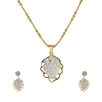 Plated Abstract Art Pendant Set for Women