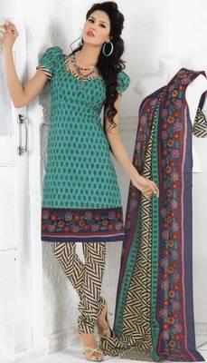 Cotton dress material elegant designer unstitched salwar suit d.no 1304