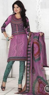 Cotton dress material elegant designer unstitched salwar suit d.no 1313