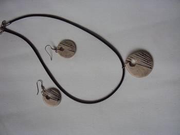 Designer texture glazed jewellery