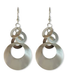 Buy Silver Circle Dangle Earring danglers-drop online