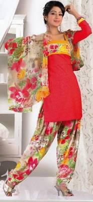 Crepe dress material elegant designer unstitched salwar suit d.no 8018