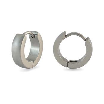Plain Silver Single  Earring for Men