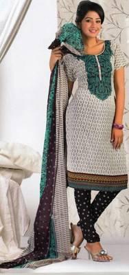 Crepe dress material elegant designer unstitched salwar suit d.no 8020
