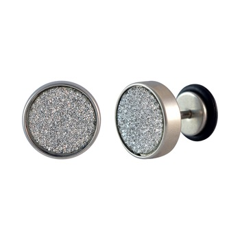 Glitter Silver Single Stud Earring for Men