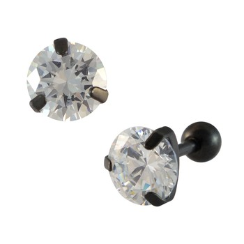 Stone Black Single Stud Earring for Men