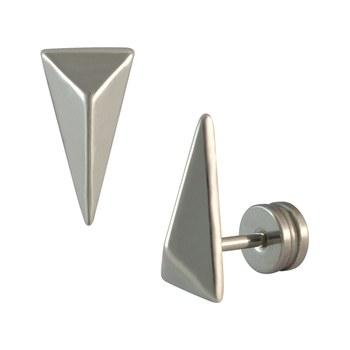 Triangular Silver Single Stud Earring for Men