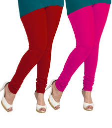 Buy red and pink leggings( pack of 2) plus-size-legging online