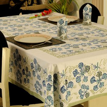 Set Of Hand Block Printed Table Cover With 6 Napkins_03