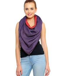 Buy Uniscarf Silk Wool reversible purple and red Shawl shawl online