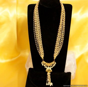 Pearl & Kundan Long Necklace