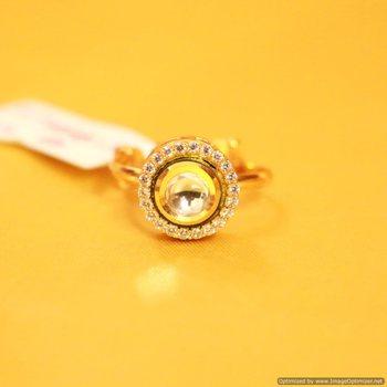 Kundan & Zircon Adjustable Ring